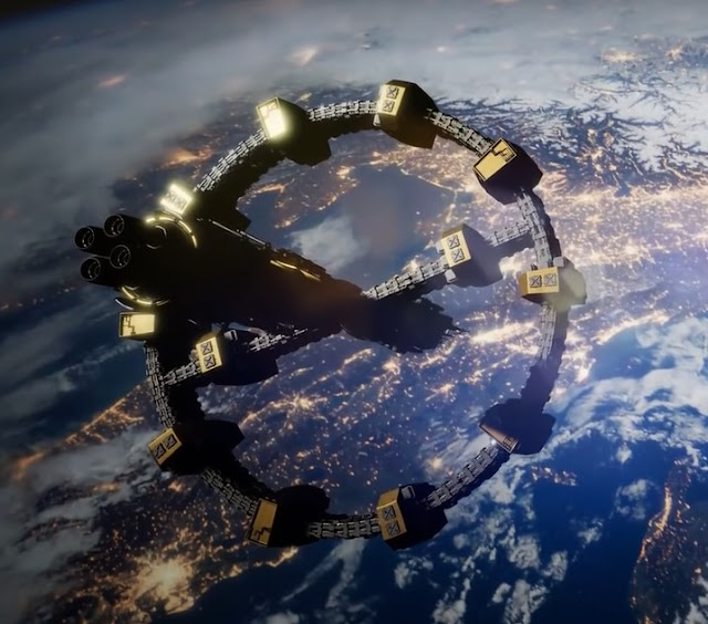 spaceship fleet concept art