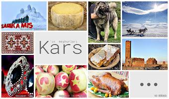 Kars'ın meşhur şeylerini gösteren resimlerden oluşan kolaj