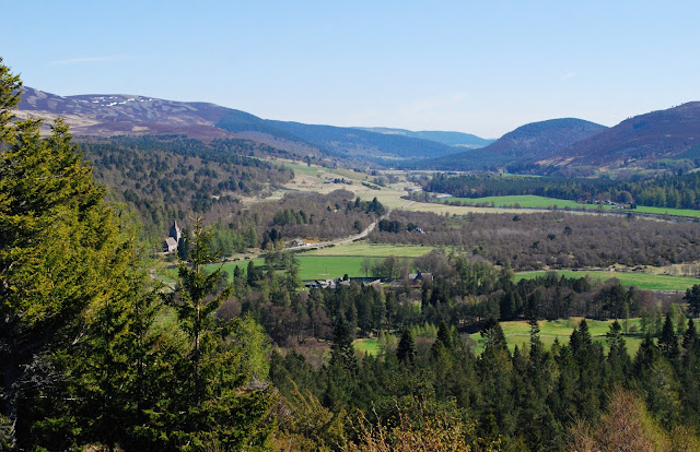 View of Royal Deeside from Balmoral Cairns route Aberdeenshire