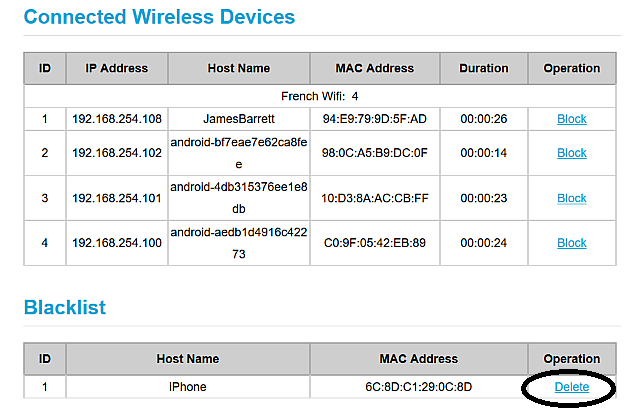 Dhcp table huawei b315s