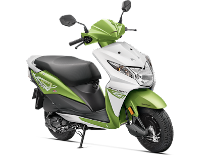 New Honda Dio green white shades