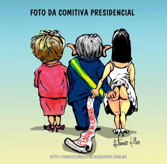 Resultado de imagem para Lula e Rose: charges