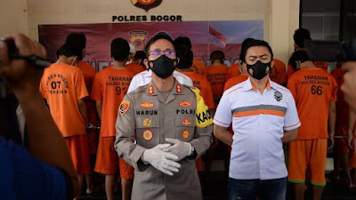 Polres Bogor Berhasil Amankan 23 Tersangka Tindak Pidana Peredaran Narkotika