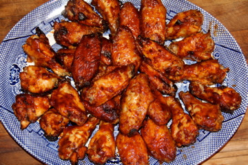 Deep South Dish Spicy Oven Baked Barbecued Chicken Wings
