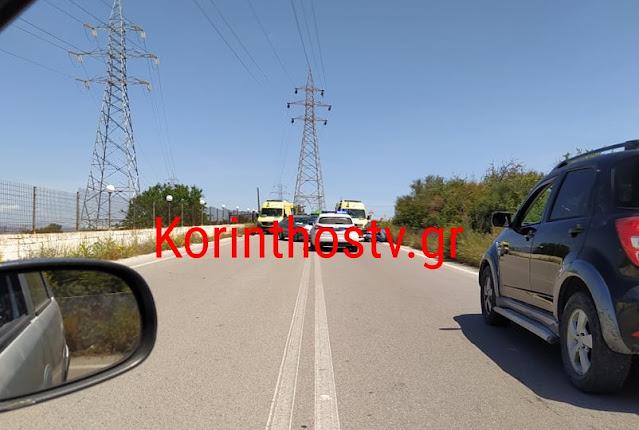 Πριν Λίγο: Σοβαρό τροχαίο στον παράλληλο της εθνικής οδού-Δύο τραυματίες[photos]
