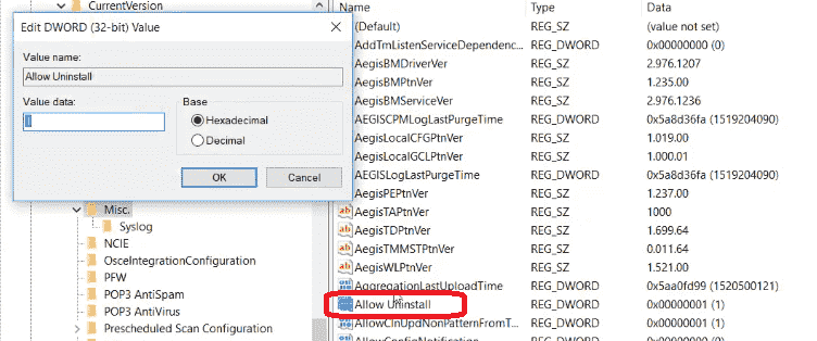 registry editor Replace Value Data