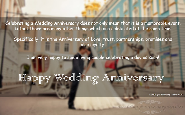 Happy wedding anniversary wishes for a couple wedding