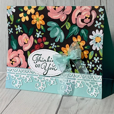 Floral Greeting Card using Happy Thoughts Stamp Set from Stampin' Up!