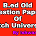 B.ed Kutch University Sem-2 Old Question Papers