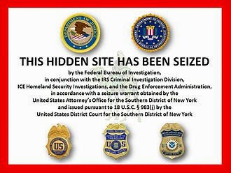 U.S. law enforcement agencies website seizure notice