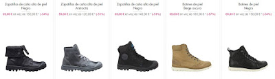 zapatillas botines piel