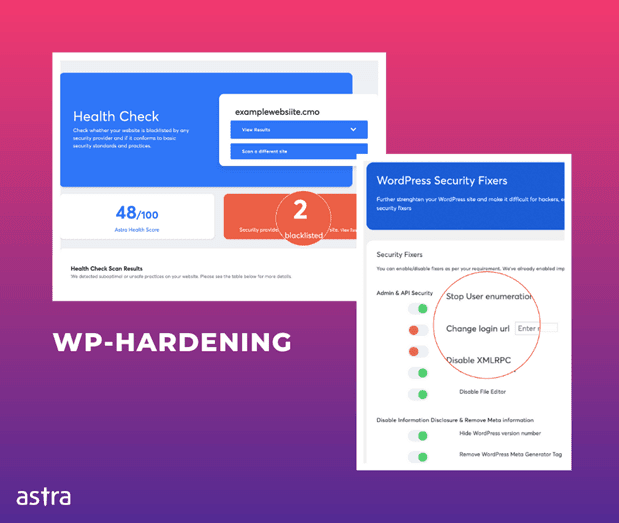 WP-Hardening  - Health 2BCheck - WP Hardening – A Free WordPress Security Plugin for Security Audit