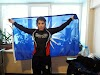 Τυλίχτηκε με τον ήλιο της Βεργίνας και μπήκε στο ρινγκ με το «Μακεδονία Ξακουστή» – Η υπέροχη αθλήτρια Άννα Τσομπάνη.