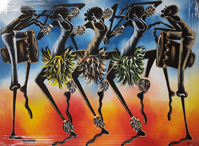 Paintings Canvas African Curio Dance