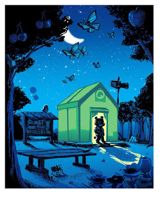"Animal Crossing ""Let's Talk Infrastructure"" UnReal Estate Screen Print by Tim Doyle x Spoke Art"