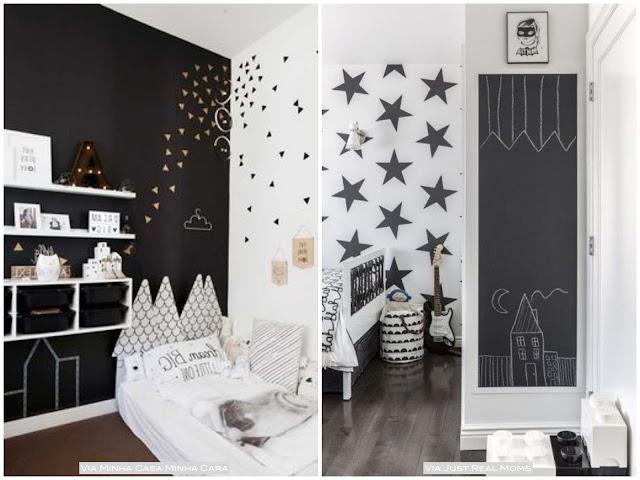decoração preto e branco quarto bebe