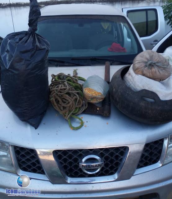 GTO recupera carro após troca de tiros com assaltantes na zona rural de Apodi