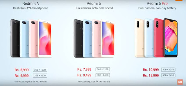 Xiaomi Redmi 6, Redmi 6A and Redmi 6 Pro Launched in India: Price, Specifications, Features