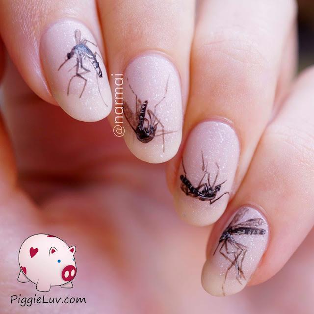 PiggieLuv: Mosquito nail art