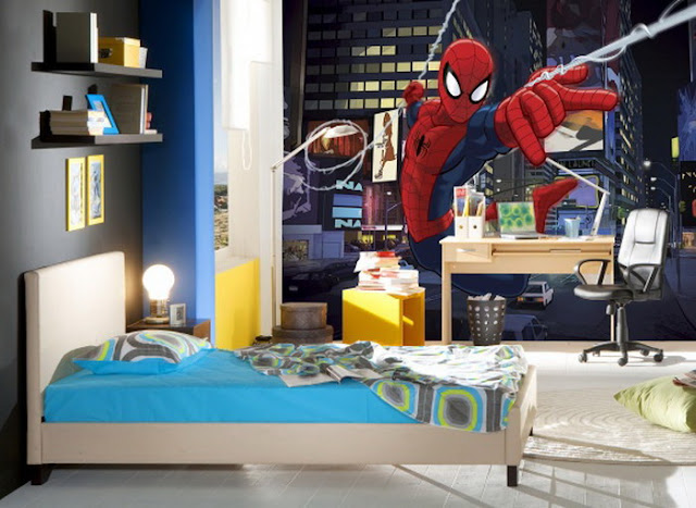 Spiderman Wall Mural Marvel Wallpaper Kid Room