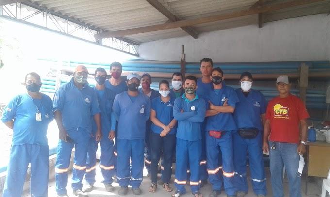 Funcionários de terceirizada da EMBASA que trabalham em Barrocas e Teofilândia paralisam atividades