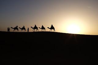 Passengers in the desert.