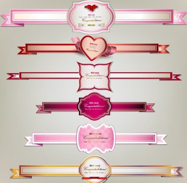 Premium Quality Vector Labels and Ribbons