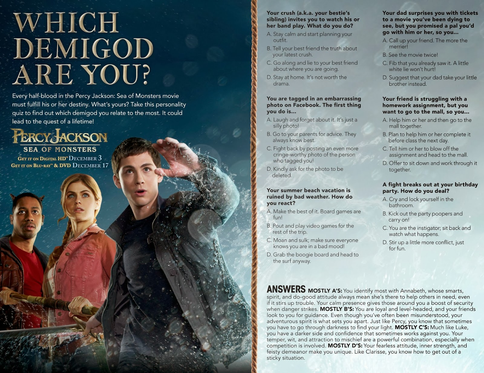 Maria S Space Percy Jackson Sea Of Monsters Blu Ray