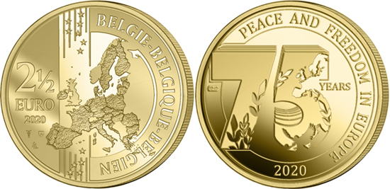 Belgium 2,5 euro 2020 - 75 years of peace and freedom