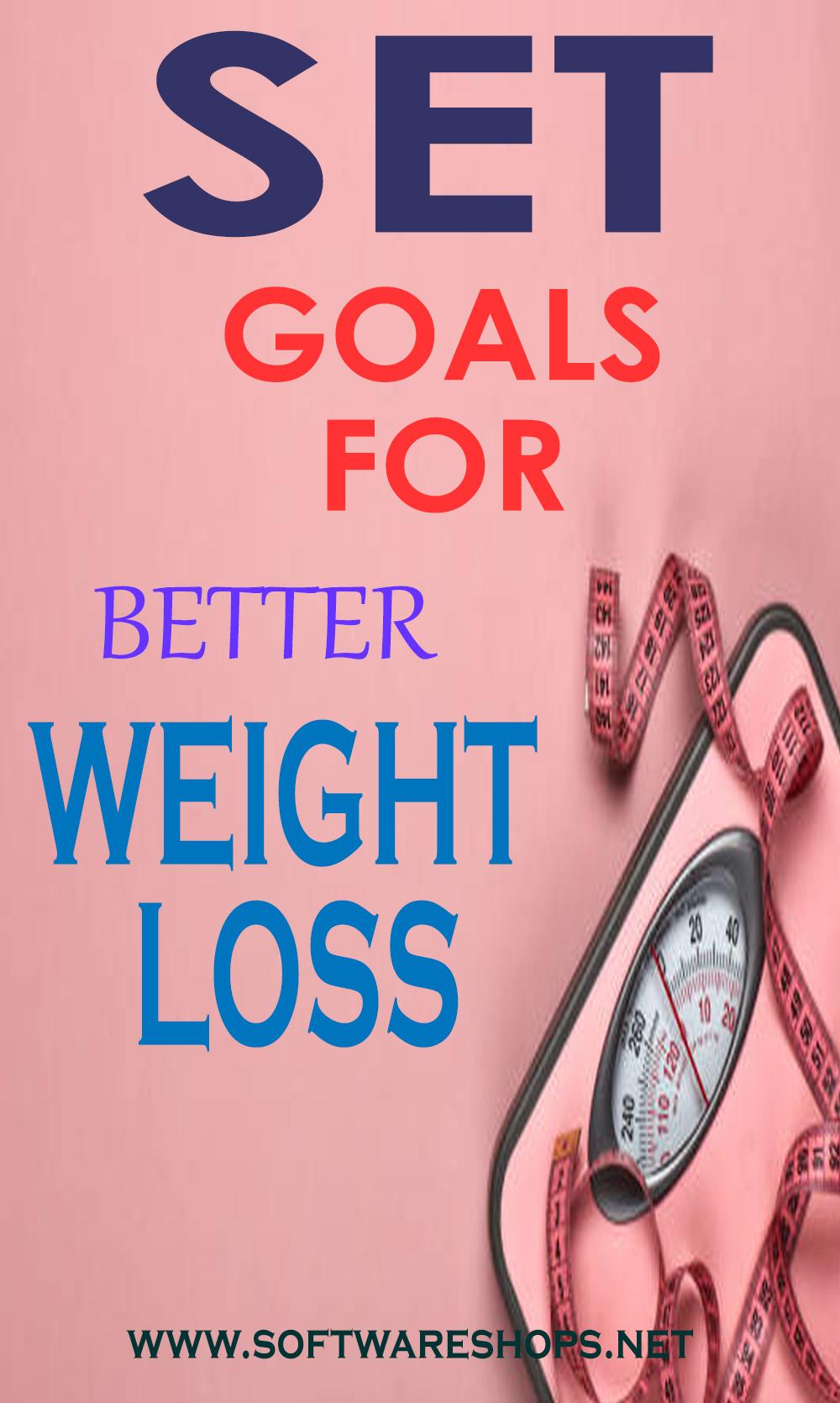 set goals for weight loss