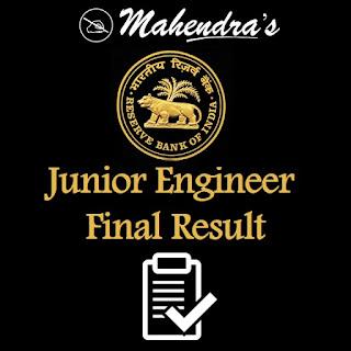 RBI | Junior Engineer | Final Result