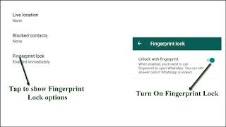 Turn on Fingerprint lock