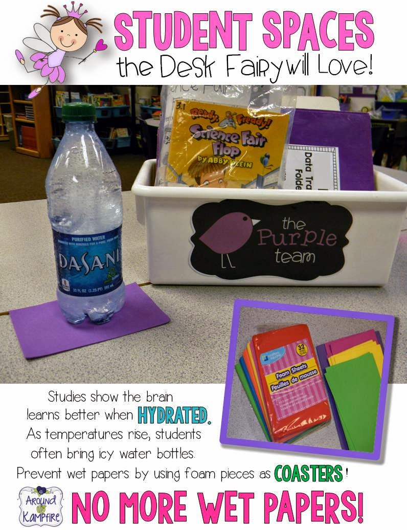 Student Spaces the Desk Fairy Will Love! Managing student water bottles