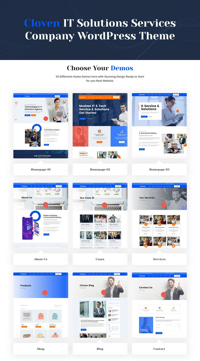 IT Solutions Services Company WordPress Template