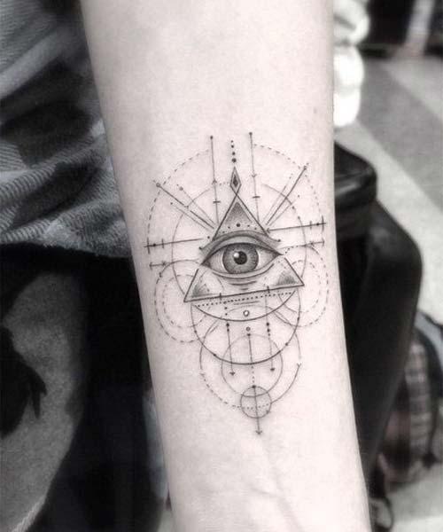 geometrik göz bilek dövmeleri eye geometric wrist tattoos