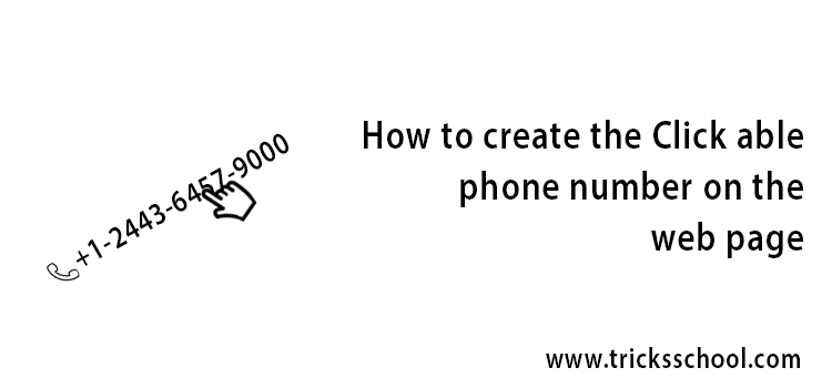 How to create the Clickable phone number the web page
