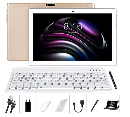 LNMBBS 4GB RAM 64GB ROM Octa-Core Android 10 Tablet