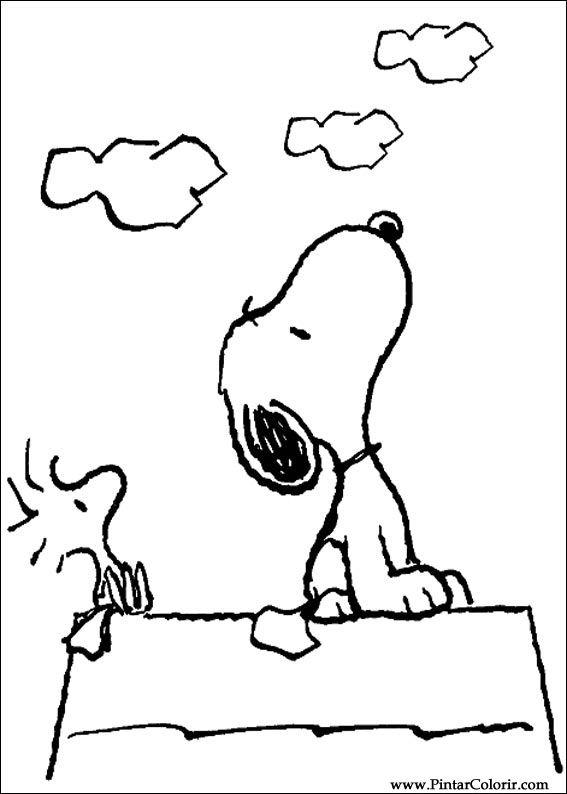 Ausmalbilder von Snoopy zum Drucken