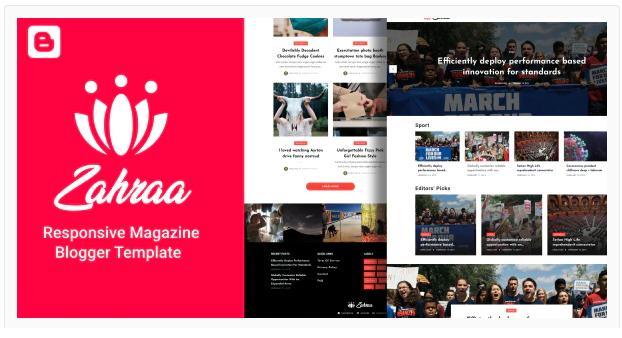 Zahraa Template Blogger Magazine