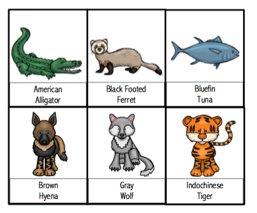 Endangered Animals Printable ~ Preschool Printables