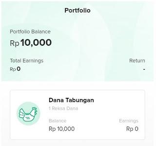 Portofolio Investasi Reksa Dana Bibit