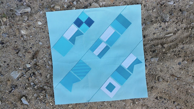 Signal flags quilt block - block 3 of QAL By the Sea