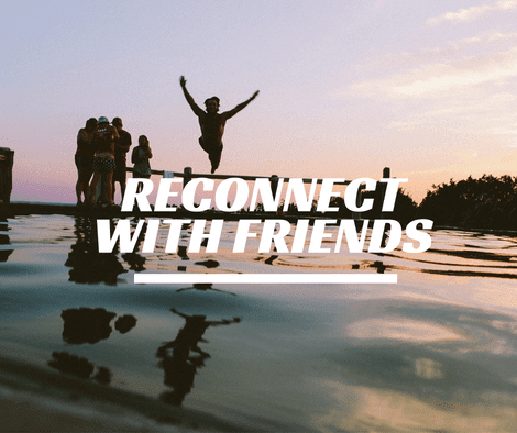 Reconnect with friends to regain your drive to write
