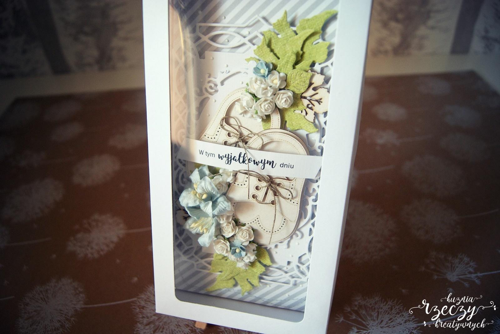 Wyjątkowa kartka okolicznościowa ręcznie wykonana z okazji chrztu, urodzin dziecka.