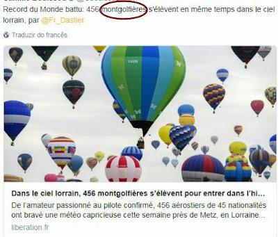 viagem de balão - voyage montgolfière