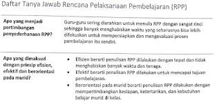 Tanya Jawab Rencana Pelaksanaan Pembelajaran (RPP)