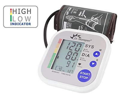Dr. Morepen Bp02 Automatic Blood Pressure Monitor to Measure Systolic & Diastolic Blood Pressure