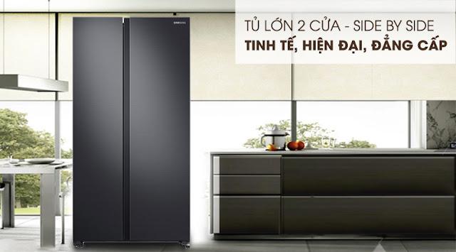 Tủ lạnh Samsung Inverter 647 lít RS62R5001B4/SV