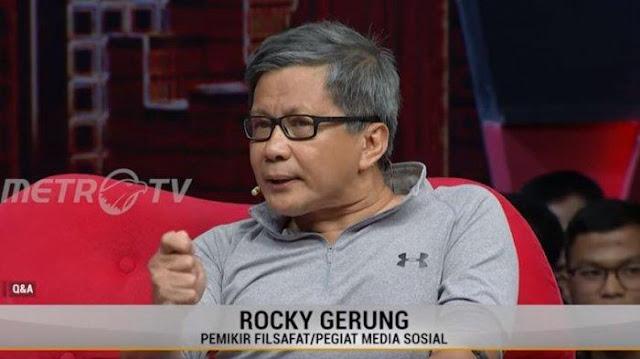 Rocky Gerung: Buzzer Diusir, Oposisi Dijamu