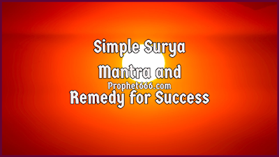 Simple Surya Mantra and Remedy for Success